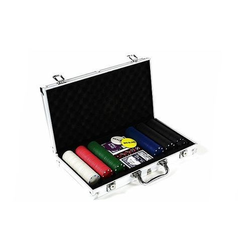 Poker nominały żetonów 300 sztuk - Zestaw do pokera z walizką