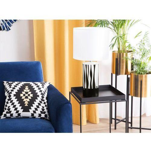 Lampa stołowa czarna/biała 47 cm NAVESTI