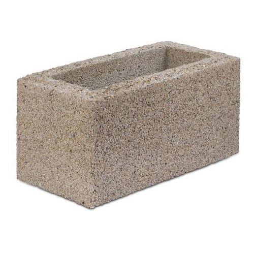 Bloczek betonowy Joniec 20 x 40 x 20 cm kremowy, BCM20_KREM