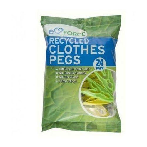 EcoForce Klamerki do ubrań z recyklingu 24 szt