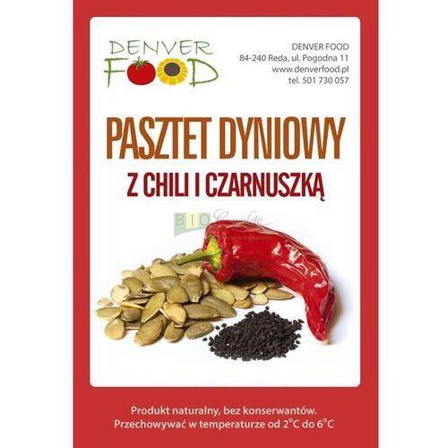Wegański pasztet dyniowy z chilli i czarnuszką bezglutenowy opakowanie około 210 g marki Denver food