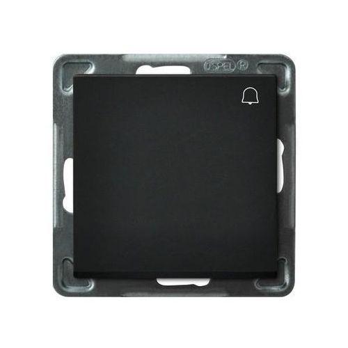 Przycisk dzwonek sonata 10ax czarny metalik ip20 łp-6r/m/33 marki Ospel