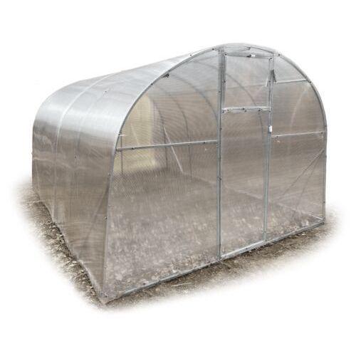 """Tunel szklarnia """"Tytan"""" 3x6 z ocynkowanej rury kwadratowej z poliwęglanem 4 mm"""