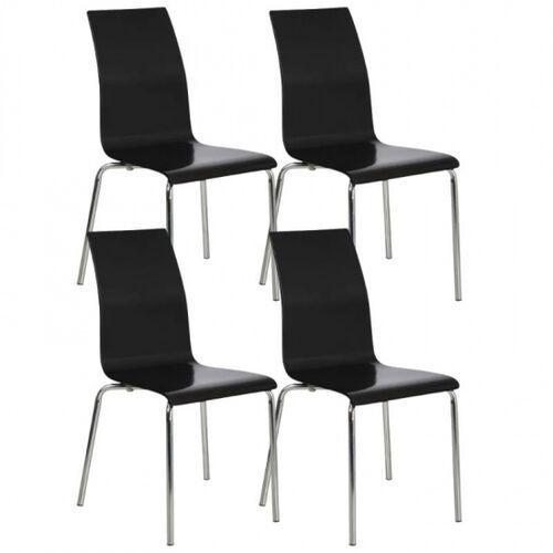 B2b partner Krzesło do jadalni bella, czarny, 4 szt.