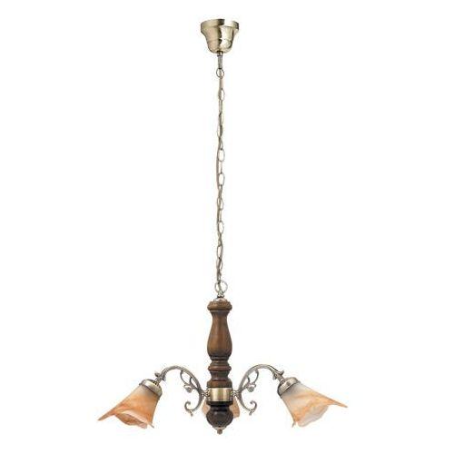 Rabalux Lampa wisząca rustic 3 3x40w e14 brąz/orzech 7093