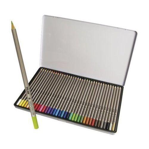 Kredki Milan ołówkowe sześciokątne 36 kolorów w metalowym opakowaniu