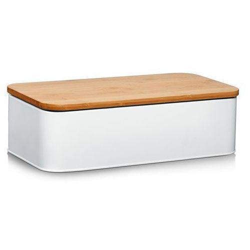 Metalowy chlebak z bambusową deską do krojenia, 2w1, ZELLER, 25375