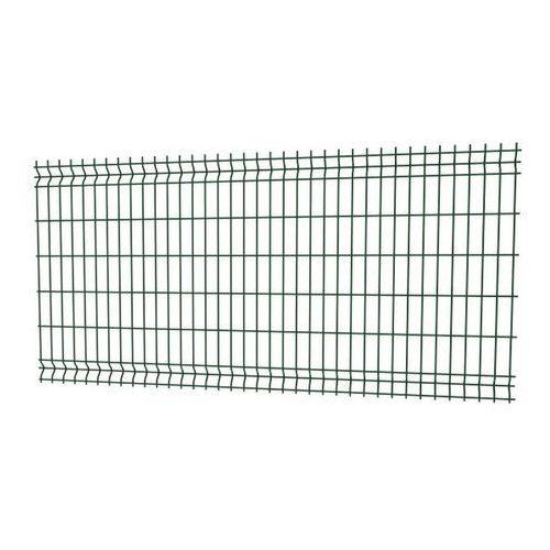 Panel ogrodzeniowy 3D 123 x 250 cm oczko 20 x 7 5 cm drut 3 2 mm ocynkowany zielony