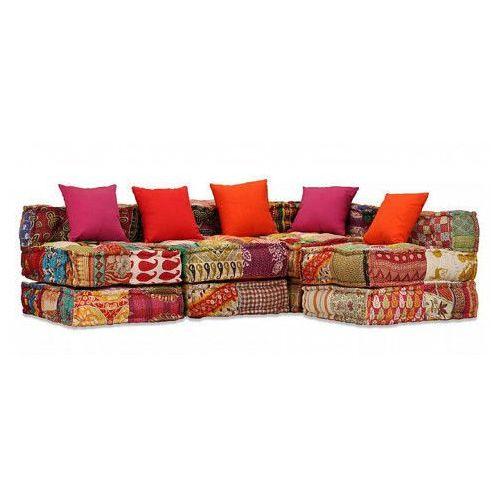 modułowa sofa patchworkowa, 4-osobowa marki Vidaxl