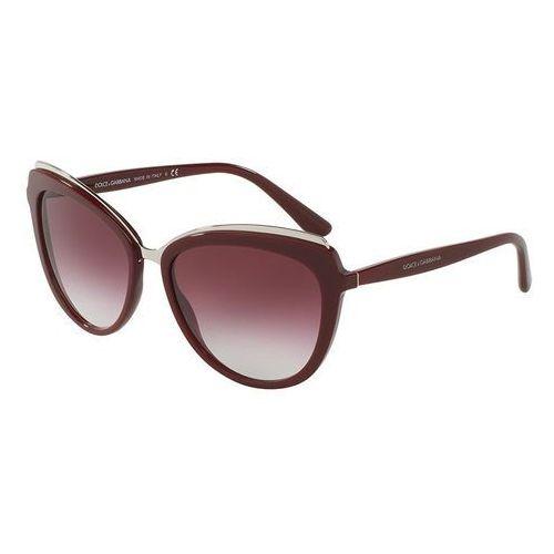 Dolce & gabbana Dolce&gabbana okulary przeciwsłoneczne bordeaux (8053672679311)