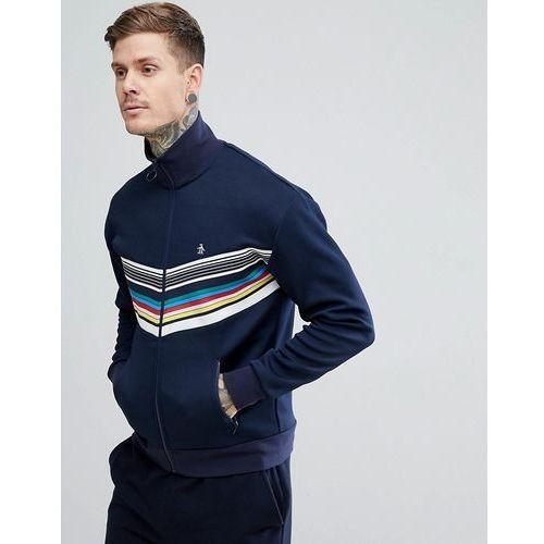 rainbow chevron track jacket slim fit small logo in navy - navy, Original penguin
