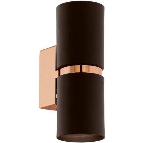 kinkiet PASSA LED owalny brązowy, EGLO 95371