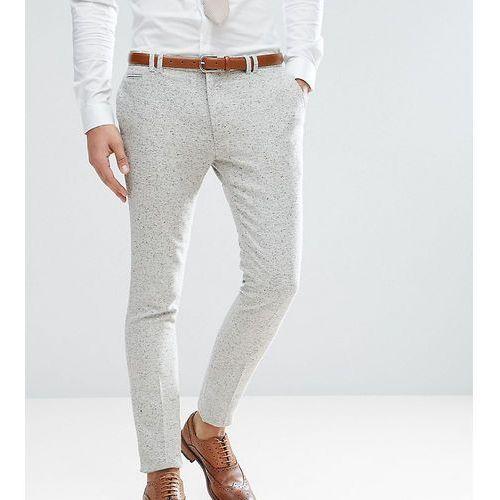 Noak tall super skinny suit trousers in fleck - grey