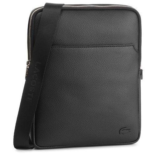 Lacoste Saszetka - large flat crossover bag nh1741gl black 000