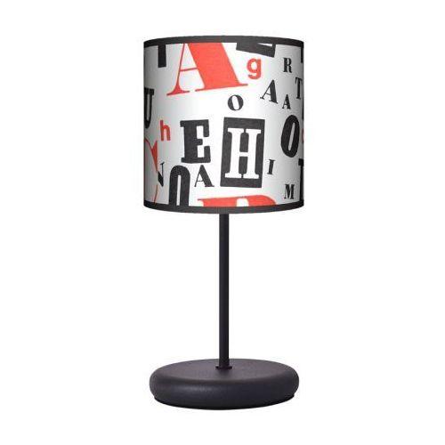 Lampa stojąca eko - retro typografia marki Fotolampy