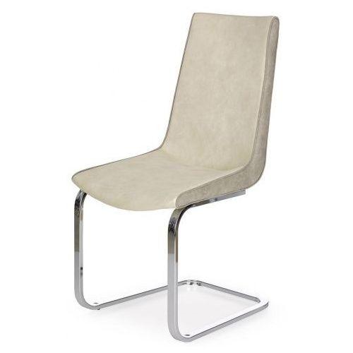 Tapicerowane krzesło Razor - kremowe + popiel, kolor szary