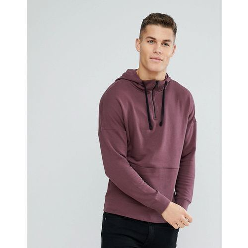 hoodie with dropped shoulder in purple - purple marki Tom tailor
