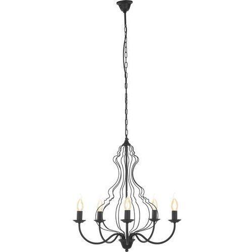 Nowodvorski Lampa wisząca margaret 6328 5x12w e14 czarna