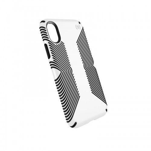 Speck Presidio Grip - Etui iPhone X (White/Black), 103131-1909