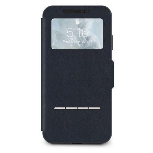 Moshi SenseCover Etui Z Klapką Dotykową iPhone Xs Max (Midnight Blue), kolor niebieski