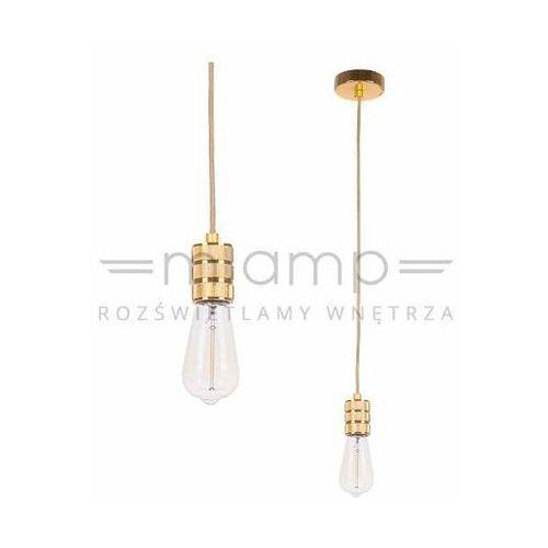 Industrialna lampa wisząca millenia ds-m-010-03 gold metalowa oprawka kabel zwis przewód złoty adri marki Italux