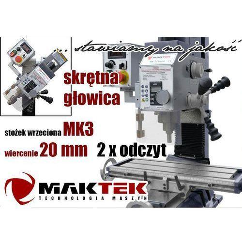 WIERTARKA SŁUPOWA WIERTARKO FREZARKA DO METALU MAKTEK HK25 VARIO 20mm EWIMAX
