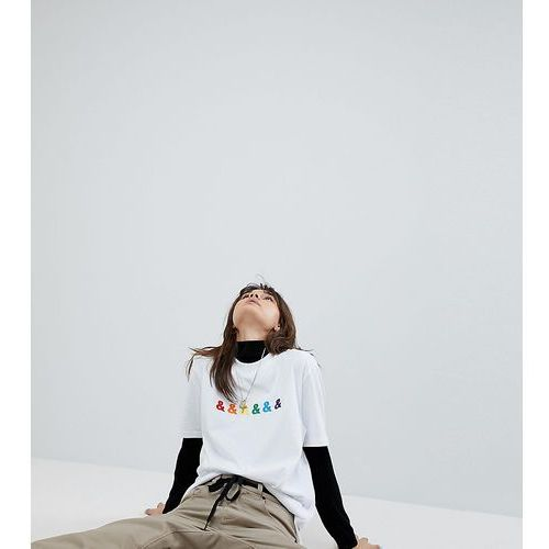 ASOS x GLAAD Relaxed T-Shirt With Embroidery - White, w 5 rozmiarach