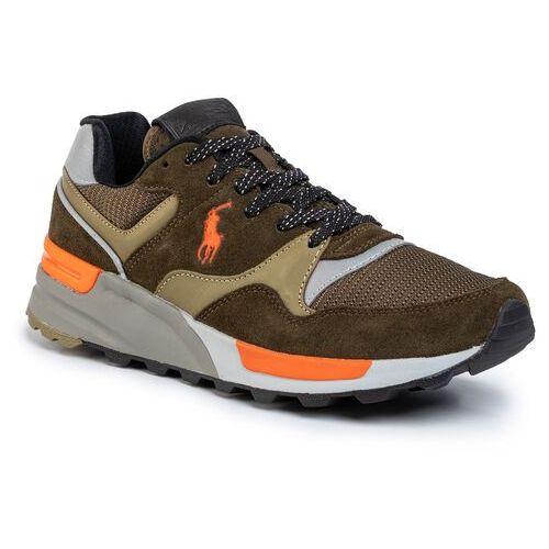 Sneakersy - trckstr 809784342001 deep olive/basketball orange, Polo ralph lauren, 40-46