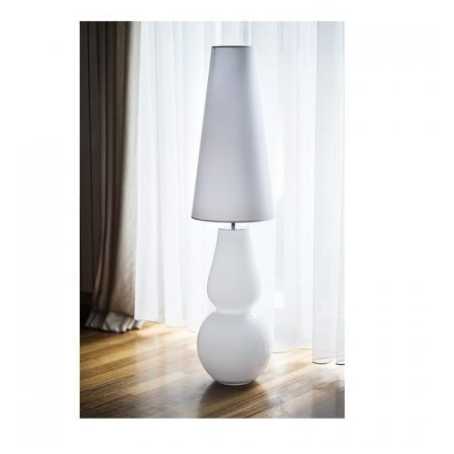 Milano white podłogowa 121cm l201081803 biały biały marki 4concepts