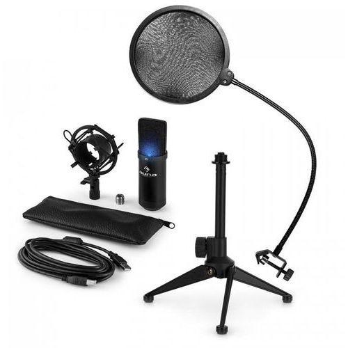 Auna Mic-900b-led usb zestaw mikrofonowy v2 mikrofon pojemnościowy pop-filtr sta