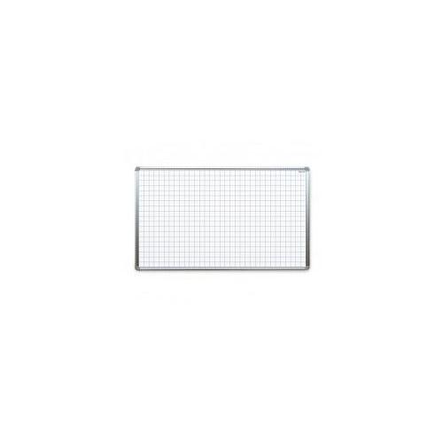 Allboards Tablica suchościeralna magnetyczna biała 170x100 cm z nadrukiem - kratka