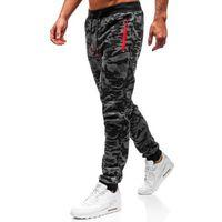 Spodnie męskie dresowe joggery grafitowe denley 55021 marki J.style