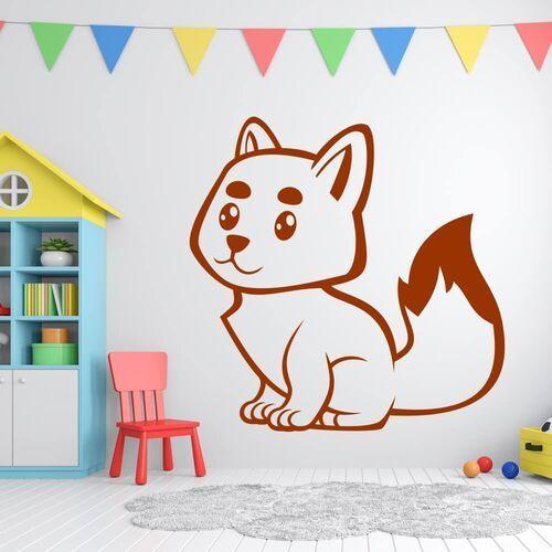 Naklejka welurowa dla dzieci lisek 2409 marki Wally - piękno dekoracji
