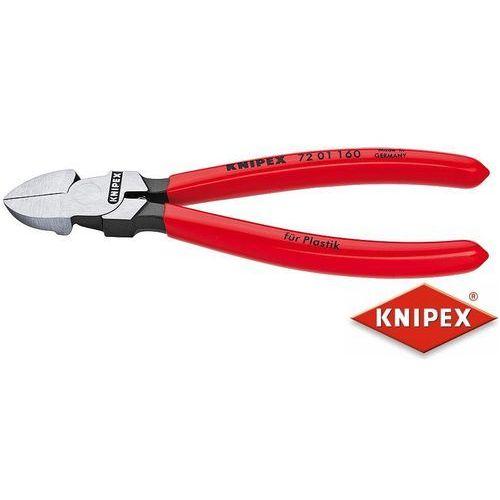 KNIPEX Obcinaczki boczne do tworzyw sztucznych 160mm, PCW 72 01 160, 72 01 160