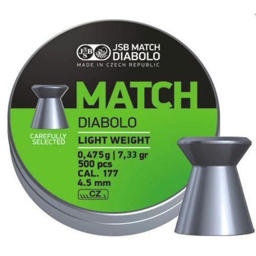 Śrut JSB Match Diabolo Light Weight 4.51mm 500szt (000006-500)