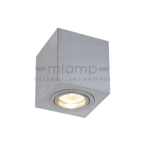 Spot LAMPA sufitowa LAGO cromo Orlicki Design metalowa OPRAWA regulowana kostka cube chrom, kolor Srebrny