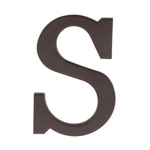 Litera S wys. 9 cm PVC brązowa (5901912823402)