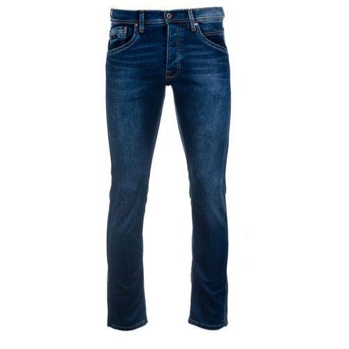 jeansy męskie track 33/34 ciemny niebieski, Pepe jeans