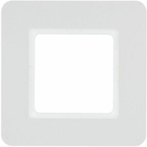 Ramka 1-krotna biały aksamit lakierowany Q.7 10116189, kolor biały