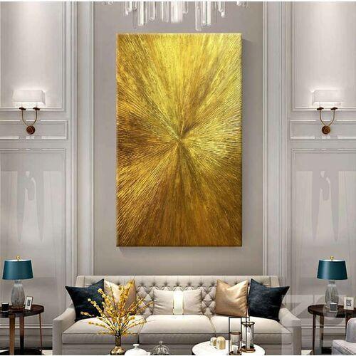 ARTISTIC GOLD - Wielkoformatowy obraz na płótnie abstrakcyjny art&texture™