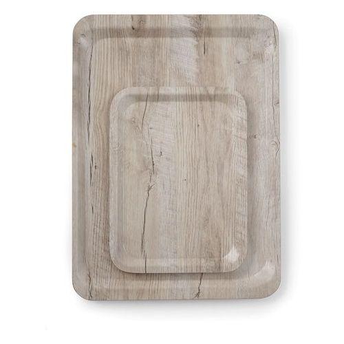 taca do serwowania laminowana nadrukiem drewna 240x350 - kod product id marki Hendi