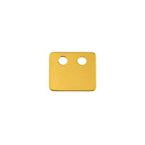 Blaszka Celebrytka Prostokąt, złoto próba 585, BL 144-AU