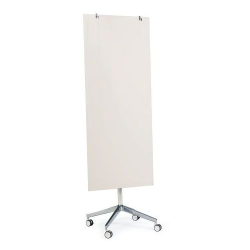 Szklana tablica suchościeralna, na kółkach, 650x1575 mm, jasnoszary marki Aj produkty