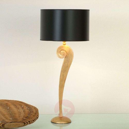 Holländer lino lampa stołowa złoty, 1-punktowy - klasyczny - obszar wewnętrzny - lino - czas dostawy: od 8-12 dni roboczych (4250151318721)