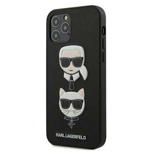 Karl Lagerfeld Saffiano Karl & Choupette Heads - Etui na iPhone 12 / iPhone 12 Pro (czarny) (3700740482391)