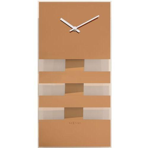 Zegar bold stripes 19x38 cm copper marki Nextime