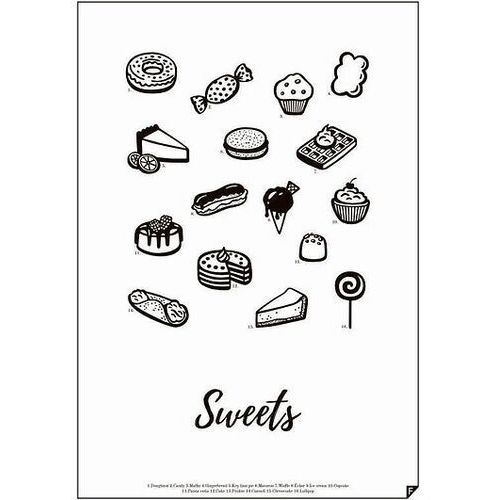 Plakat Sweets 30 X 40 cm, SWEETS-3040