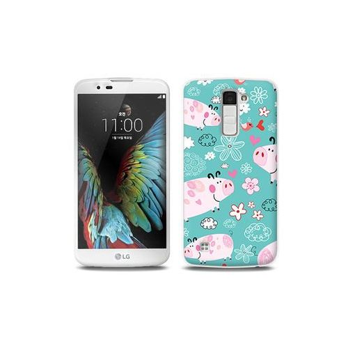 LG K10 - etui na telefon Full Body Slim Fantastic - różowe świnki