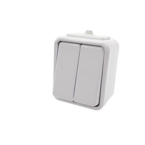 Łącznik podwójny natynkowy IP44 WNT-500C biały Cedar Schneider Electric (5904093006145)