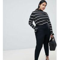 ASOS DESIGN Curve ultimate ankle grazer trousers - Black, kolor czarny